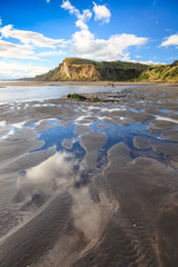 Low tide at Kai Iwi Beach, Wanganui, New Zealand