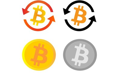 Bitcoin Money Currency Illustration Vector