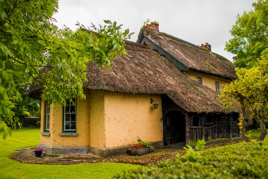 Traditional cottage in village Adare, County Limerick, Ireland