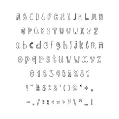 Children's English font for book design