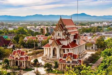 Buddhist temple Wat Thammikaram in Prachuap Khiri Khan, Thailand.