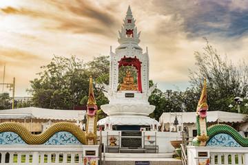 Statue of Shin Upagutta in Prachuap, Khiri, Khan, Thailand