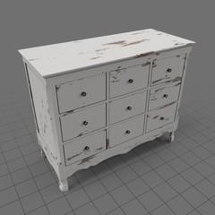 Aged antique dresser