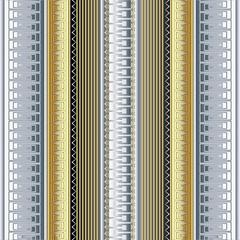 Striped 3d greek borders vector seamless pattern.