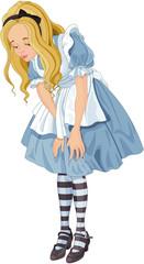 Printed kitchen splashbacks Fairytale World Alice from Wonderland