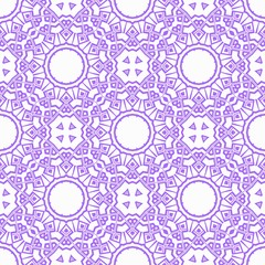 Modern colored seamless lace pattern with abstract geometric flower. Fashion design background for invitation card. illustration