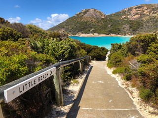 Path to Little Beach at Two peoples Bay conservation reserve in Albany, Western Australia. .