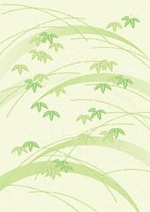 笹 和紙 黄緑