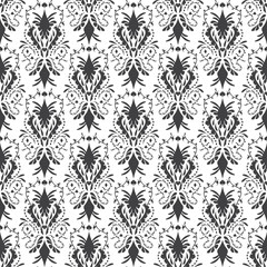 Damask Victorian Floral Background Seamless Texture