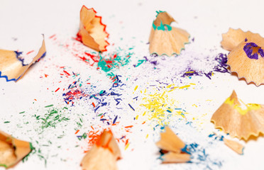 Colorful Shavings From Pencils 6
