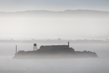 The Rock and The Fog - Alcatraz in San Francisco Bay, California