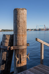 Anleger im Hafen in der Kieler Förde