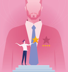 Outstanding Employee Award - Concept business vector illustration.