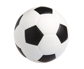 Leather football. Soccer ball on white background.