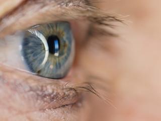 Human eye, macro shoot. Selective focus.