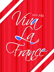 nice and beautiful abstract or poster for Bastille Day with nice and creative design illustration, 14th of JULY.