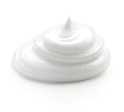 cosmetic cream on white background