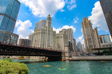 USA - Chicago / magnificent mile and Chicago river Fototapete