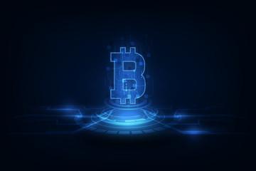digital bitcoin crypto currency vector background. Bitcoin vector illustration background