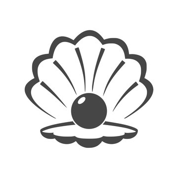 Open shell with a pearl icon