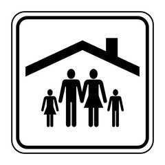 Logo famille toit.