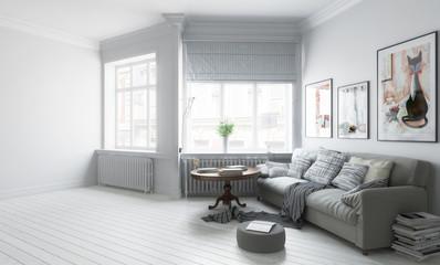 Möbliertes Apartment (Konzept)