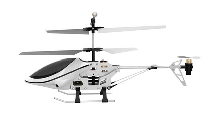 Radio Controlled Helicopter Isolated