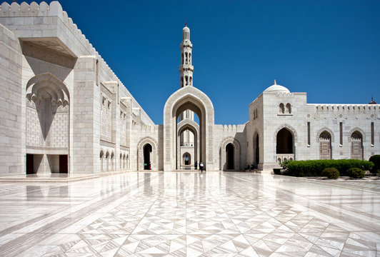 Sultan Qaboos Grand Mosque. Sultanate of Oman.