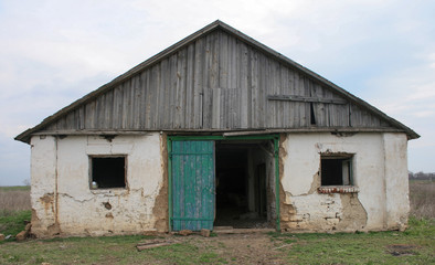 old house building farm door