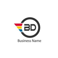Initial Letter BD Logo Template Design