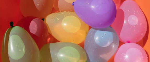 Panorama Wasserballone gefüllt