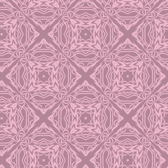 Vector pattern with stylish ornament. Floral seamless design