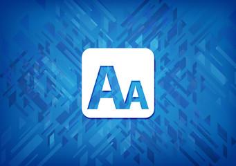Fototapeta Font size box icon blue background