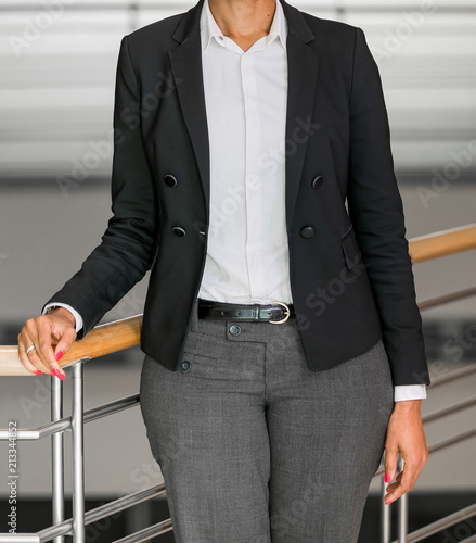 cropped head business woman in corporate attire stock photo and