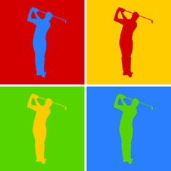Golf Pop-Art