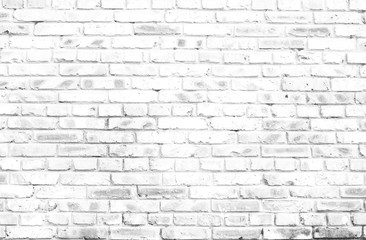 white brick wall background in rural room