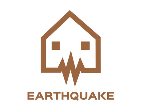 earthquake wave icon vector illustration