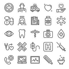 healthcare pixel perfect icons