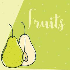 Delicious fruits cartooon
