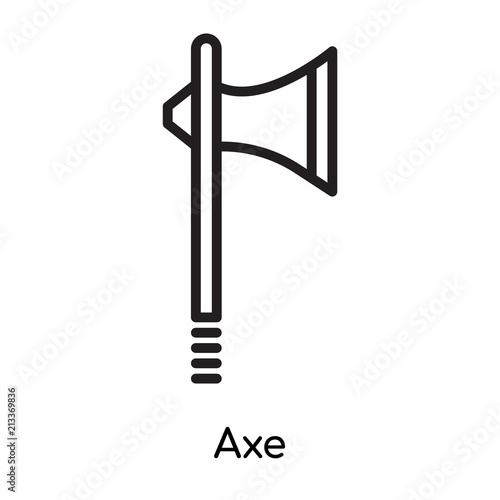 Axe Icon Vector Sign And Symbol Isolated On White Background Axe
