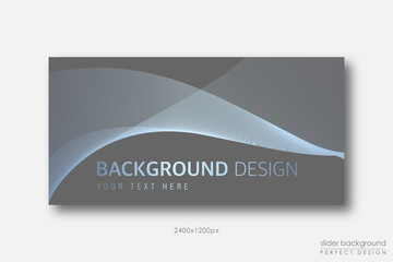 Background Design with golden blue Wave