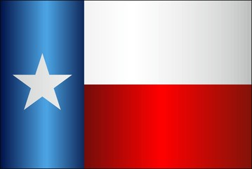Grunge flag of Texas - illustration, 