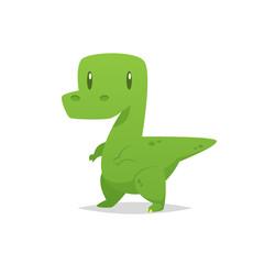 Cute cartoon dinosaur vector