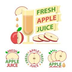 Red apple juice badge emblems