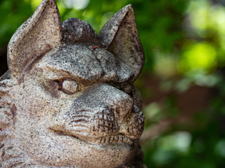 a japanese stone dog Komainu 狛犬
