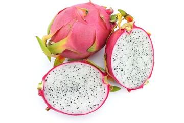 Sweet Dragon fruit on white background