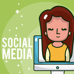Social media cartoons