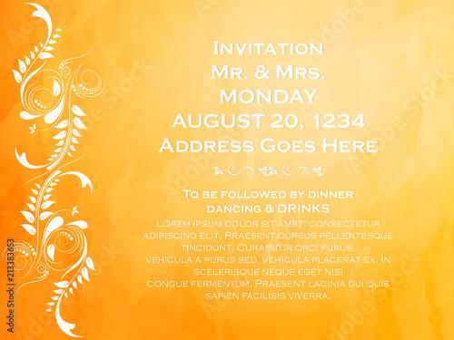 Nice And Beautiful Invitation Card Templates With Creative
