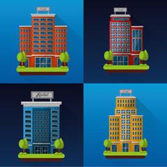 hotel service building