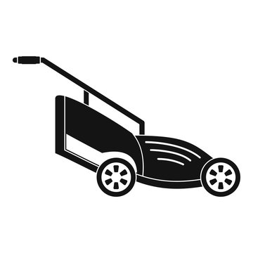 Lawn mower icon. Simple illustration of lawn mower vector icon for web design isolated on white background